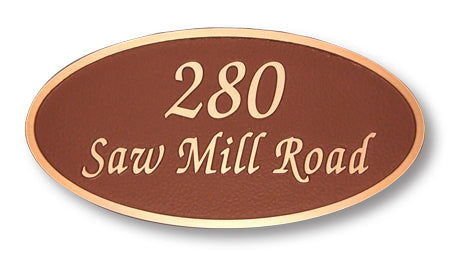 Elegant Oval - Address - Medium