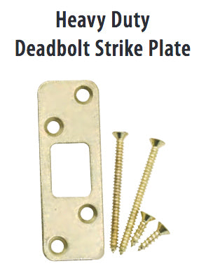 Emtek 93223 Heavy Duty Deadbolt Strike Plate