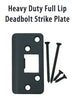 Emtek 93224 Heavy Duty Full Lip Deadbolt Strike Plate