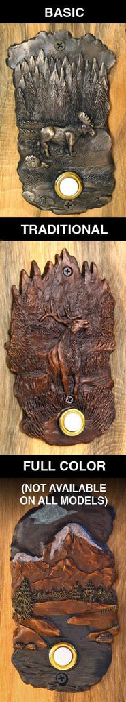 F-DRKNCK-PDM10 Lodge Style With 10 Inch Bark Base Door Knocker