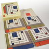 Frank Lloyd Wright Harold Price Jr Rug Coaster Set
