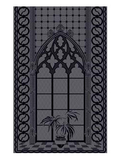 Gothic Lace Panels - Ebony-Slate