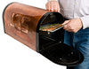 Greg Hentzi Great Blue Heron Mailbox-Rural Locking Rugged