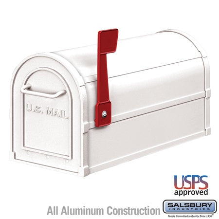 Heavy Duty Rural Mailbox - White