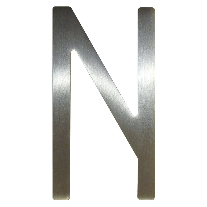 Stainless Steel - 5 Inch - Letter N