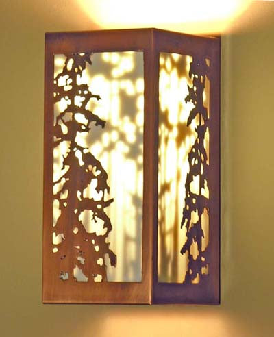 Shadow Sconce - Pine tree design with an inner shadow element