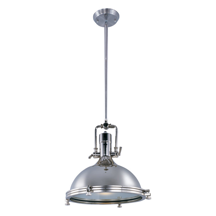 25109FTPN Hi-Bay 1-Light Pendant - Polished Nickel