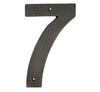 Cast Bronze House Number 7
