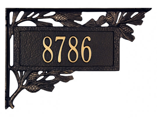 Pinecone Mailbox Bracket - Black
