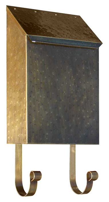 Provincial Vertical Mailbox Ant Hammered Brass