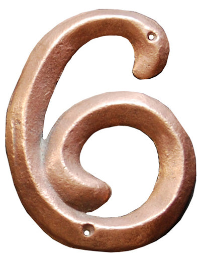 Revival Style House Number 6 - Copper