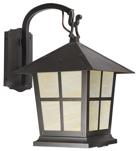 Spring Street Hooked Arm Wall Mount Light Fixture 1023-1