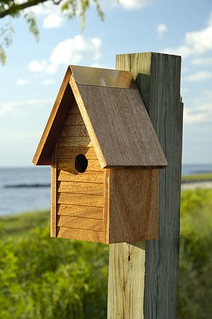 108F Starter Home Bird House - Mahogany