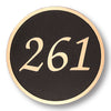 Traditional Circle Address Plaque - Medium