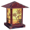 16'' timber ridge column mount with palm tree filigree