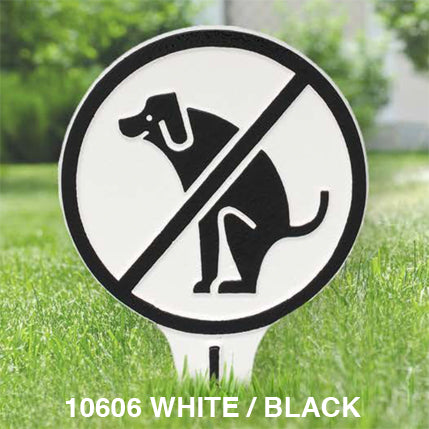 Whitehall No Dog Poop Lawn Sign
