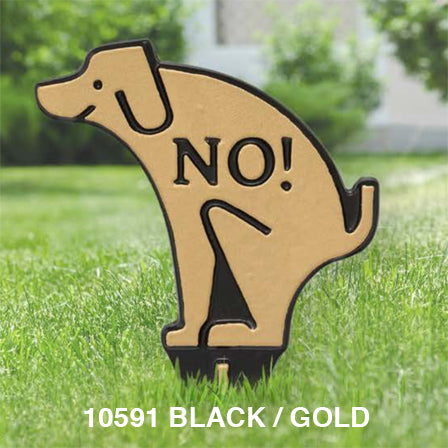 Whitehall No Dog Poop Silhouette Lawn Sign
