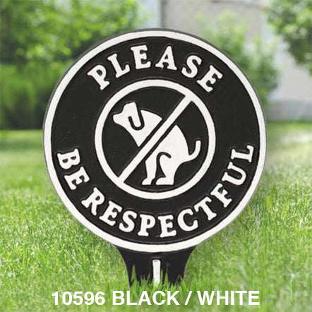 Whitehall Please Be Respectful Pet Lawn Sign