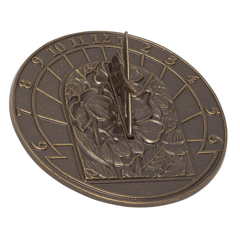 Hummingbird Sundial - French Bronze