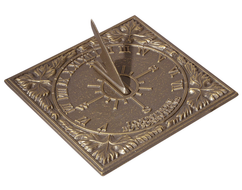Sunny Hours Sundial - French Bronze