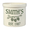 Whitehall 2550 Pine Bough Ceramic Crock