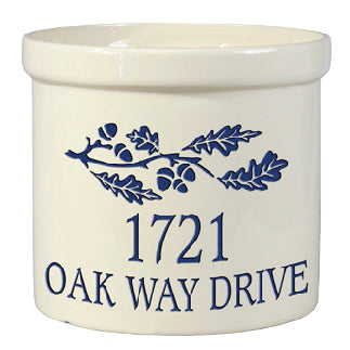 Whitehall 2553 Oak Leaf Ceramic Crock
