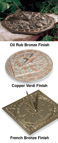 00485 Hummingbird Sundial - Oil Rub Bronze
