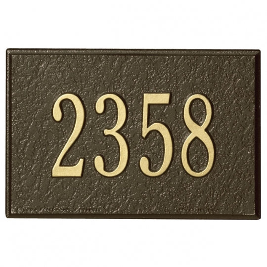 Mailbox-Plaque Only-Bronze-Gold