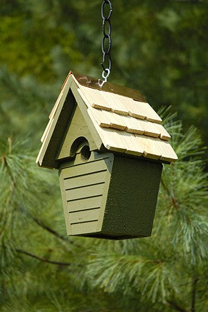 082B Wren-in-the-wind Bird House - Pinion Green