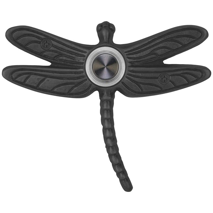 Summer Dragonfly Doorbell - Black