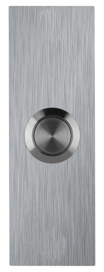 Small Rectangle Stainless Steel Doorbell - Adhesive Mounted