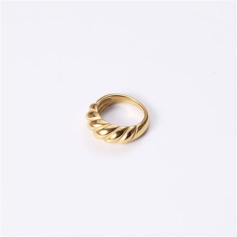 New stainless steel ring titanium steel  grid pasta index finger ring female niche design ring ins net red ring