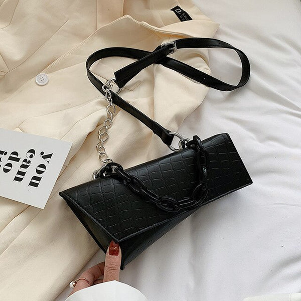 [BXX] Stone Pattern PU Leather Crossbody Bags For Women 2020 Spring Small Shoulder Handbags Lady Travel Cross Body Bag HM062