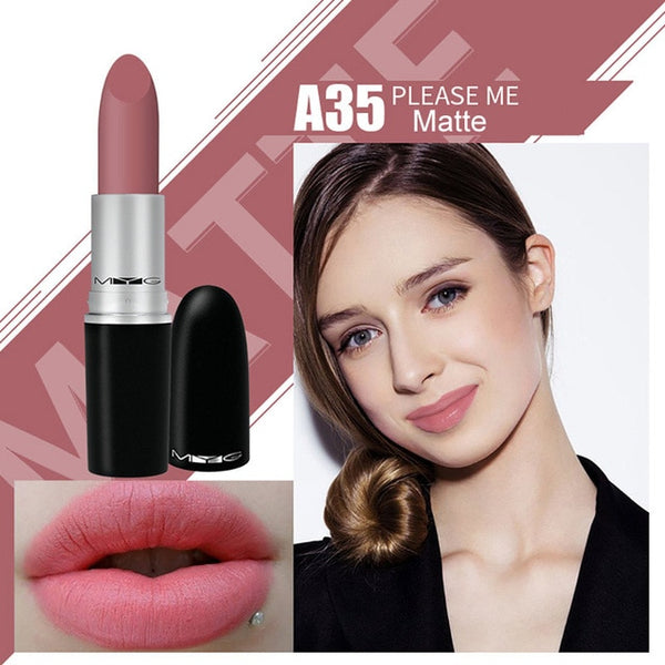 Top Quality MYG Matte Lipstick professional Lips Makeup Long-lasting Waterproof  Lipstick Red Nude ruby woo honey love Lipstick