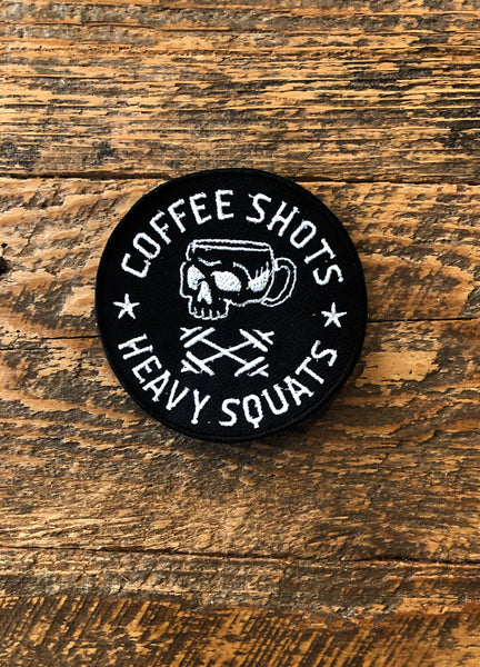 Coffee Shots, Heavy Squats Patch