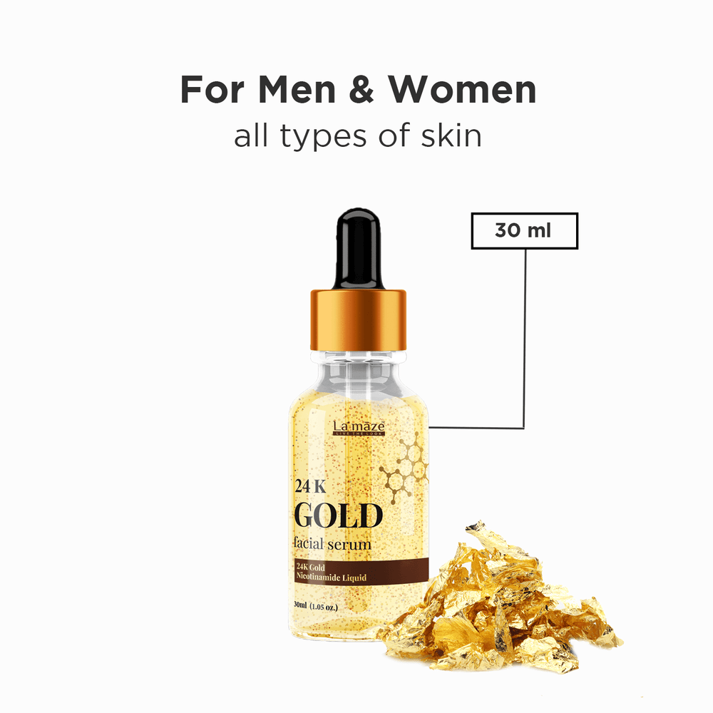 Load image into Gallery viewer, La'maze Cosmetics 24K Gold Hyaluronic Serum