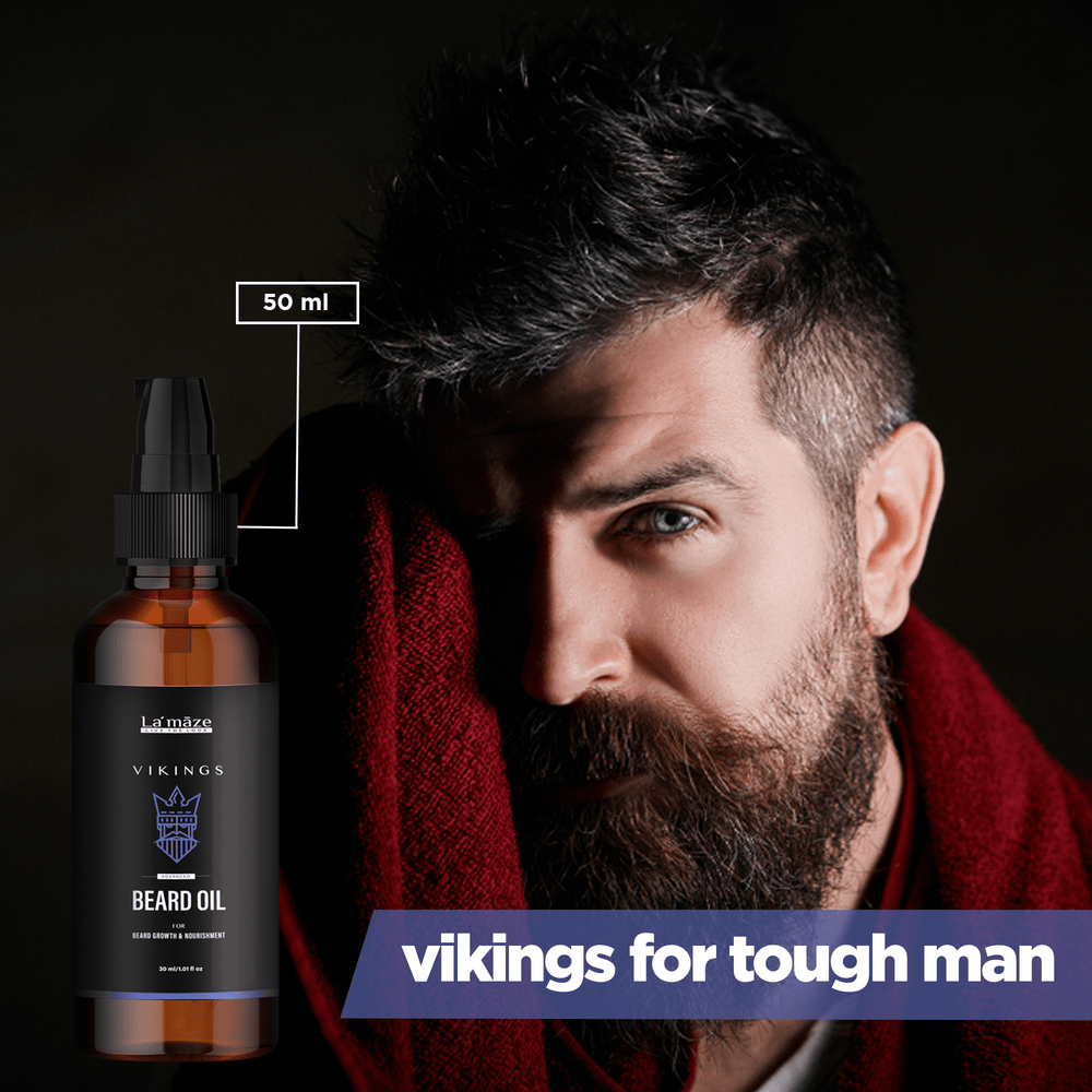 Vikings Beard Growth Oil Promotes Beard Growth & Shines Beard - 50ml