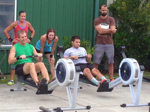 Crossfit rowing training