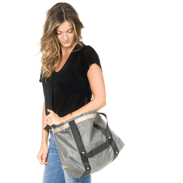 ANDI- Large Charcoal Diamond Bag