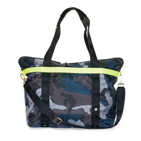 ANDI- Large Navy Camo Bag
