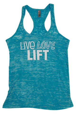 Live Love Lift Burnout Tank - Love and Sweat Athletic Wear