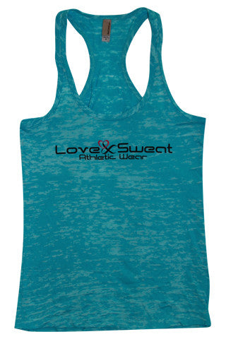 Love and Sweat Burnout Tank Top - Love and Sweat Athletic Wear  - 1