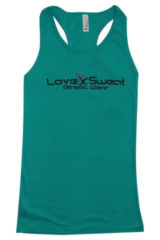 Love and Sweat Solid Tank Top - Love and Sweat Athletic Wear  - 2