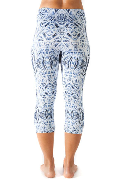 Inspire Printed Capri Pants- Ice Crystals