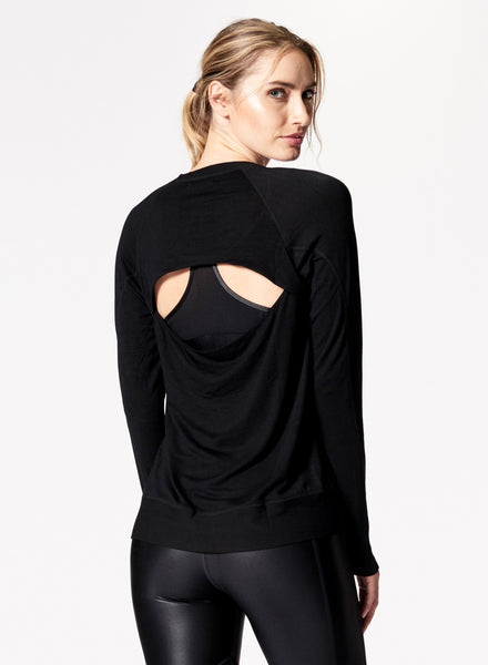 Nux Open Back Madison Pullover Black