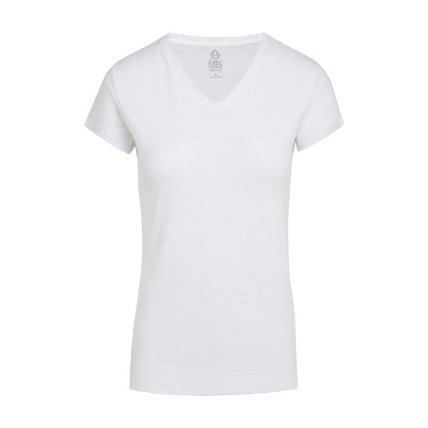 Tasc Bamboo Streets V Neck T Shirt White Love And Sweat