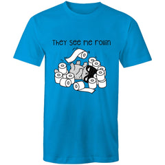 Mens T-Shirt - up to 5XL - They see me Rollin