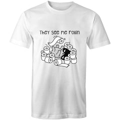 Womens Loose T-Shirt - They see me rollin