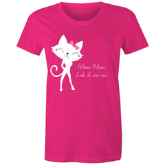 Womens standard T-Shirt  - Meow Meow, Look at me now