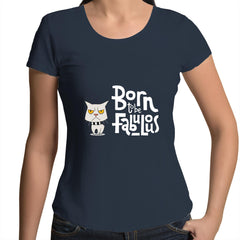 Womens Scoop Neck T-Shirt - Born Fab